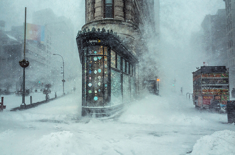 Winter Storm and the Flat Iron Building