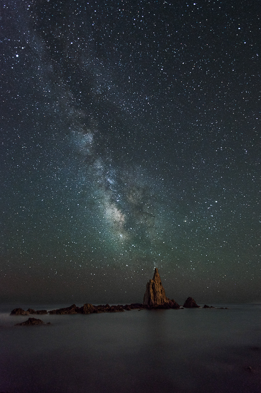 Milky way over sirenas