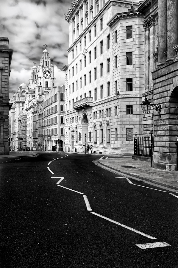 Liverpool Mono Cityscape, View to Liver Building