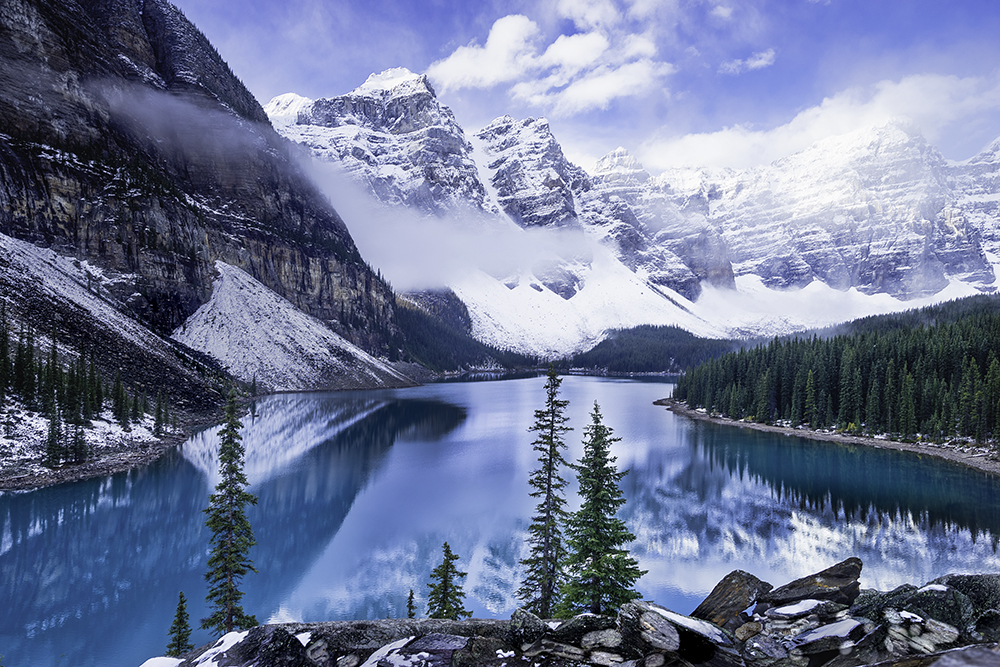 View of Lake Moraine