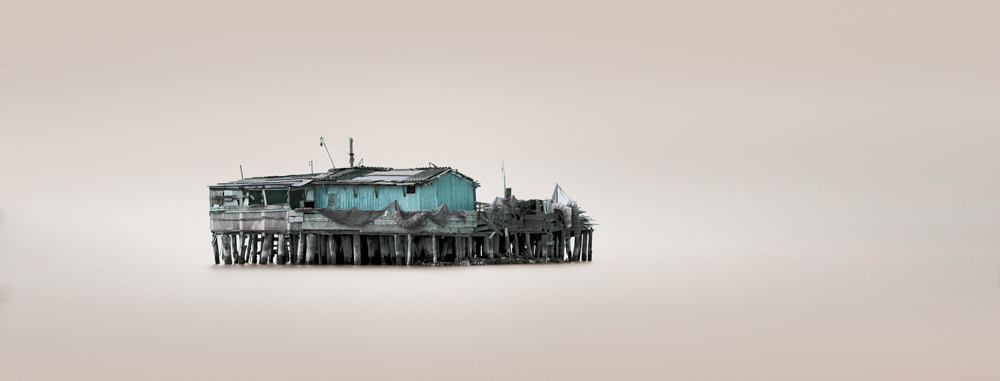 Fishing huts in Pellestrina