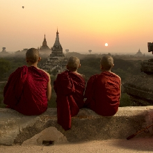 Monk Sunrise over Myanmar