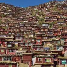 Little houses of Tibetan Buddhist nuns