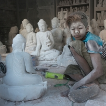 The Stone Masons of Mandalay