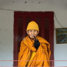 Senior Monk with Pipe