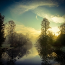 Misty Sunrise - Syon Gardens