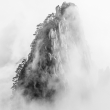 Huangshan on a white canvas