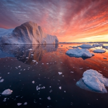 The Icebergs of Disko Bay